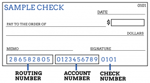 First Utah Bank find your routing number, account number and check number